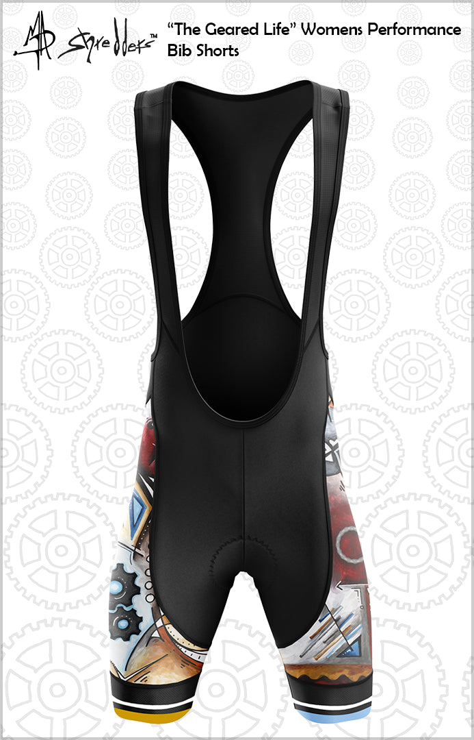 """Embrace Life"" Womens Cycling Bib Shorts Performance Fit MAD Shredders™"