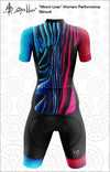 """Miami Lines"" Womens Cycling Skinsuit Performance Fit MAD Shredders™"