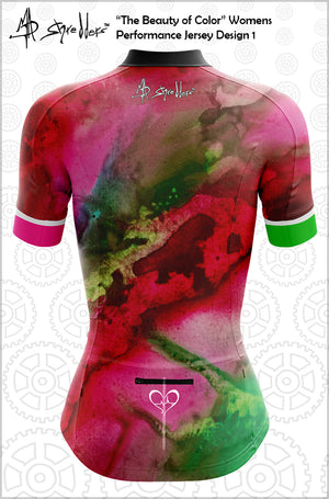 """The Beauty of Color"" Design 1 Womens Jersey Performance Fit MAD Shredders™"