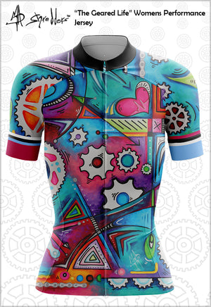 """The Geared Life"" Womens Jersey Performance Fit MAD Shredders™"