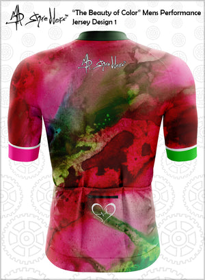 """The Beauty of Color"" Design 1 Mens Cycling Jersey Performance Fit MAD Shredders™"