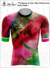 "CLOSEOUT! Limited stock available ""The Beauty of Color"" Design 1 Mens Cycling Jersey Performance Fit MAD Shredders™"
