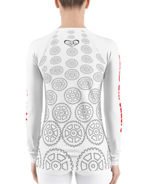 """Geared"" Womens Athletic Long Sleeve Shirt"