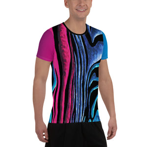"""Miami Lines"" All-Over Print Men's Athletic Jersey Shirt"