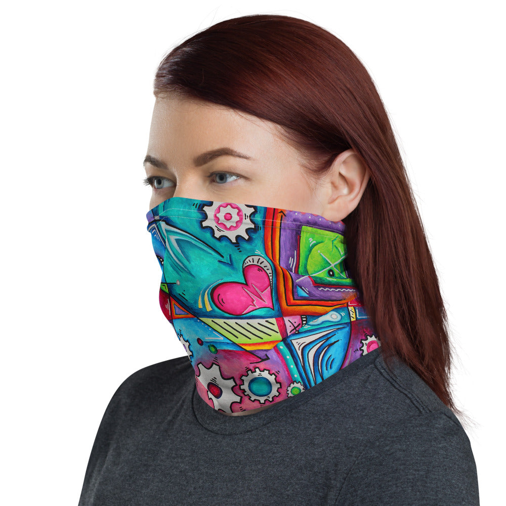 """The Geared Life"" Unisex Neck Gaiter"
