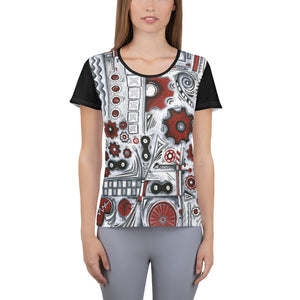 """When Our Paths Cross"" All-Over Print Women's Athletic Jersey Shirt"