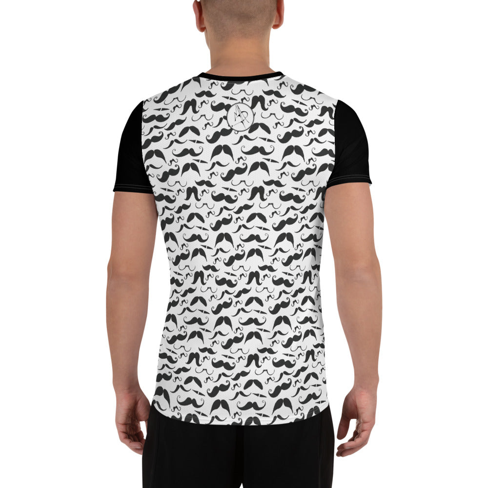 """MAD Stache"" All-Over Print Men's Athletic Jersey Shirt"