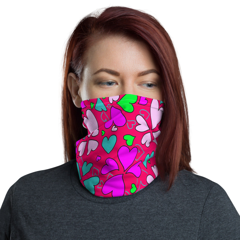 """Multi Hearts"" Neck Gaiter"