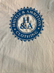 Blue Hustle&Ambition Short sleeve shirt