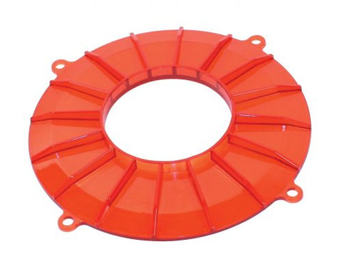 EMPI 8848 Finned Backing Plate, Red