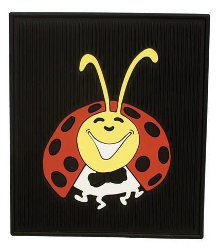 EMPI 1098 Lady Bug Floor Mats, Colored, Rear, Pair