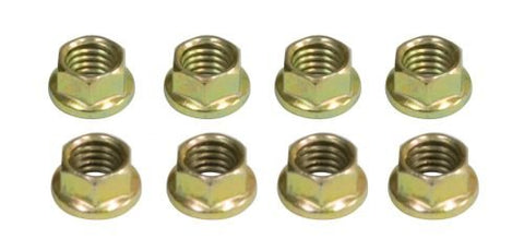 EMPI 2983 6 Point 8mm Engine Nuts, Gold Zinc Plated, 8 pcs