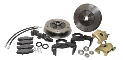 EMPI 2885 Zero Off-Set Front Disc Brake Kit Ball Joint, 5-Lug, 5x205 to '66-67 with Dual M/C