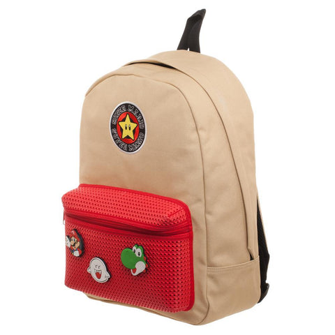 Mario Brothers Nintendo Backpack w/ Mario Patches Shop now at the kid squad free shipping