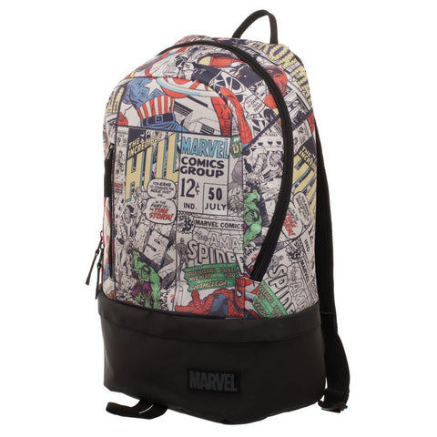 Marvel Comic Backpack  Marvel Backpack w/ Bottom Zip Shop Now at the Kid Squad Free shipping