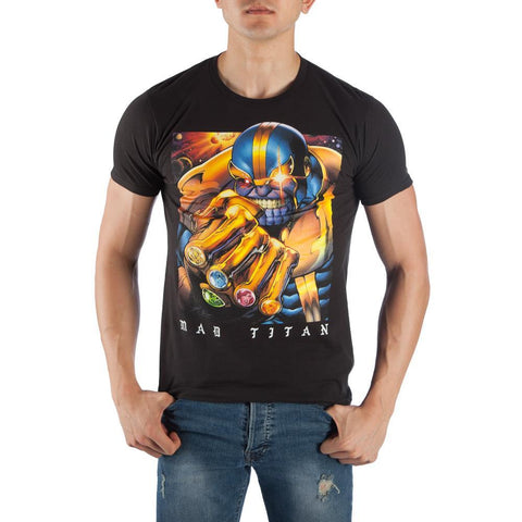 Thanos The Mad Titan Men's Black T-Shirt Shop now at the kid squad free shipping