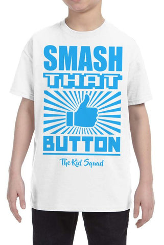 Shop now! Smash That Like Button T-Shirt from The Kid Squad! FREE SHIPPING!