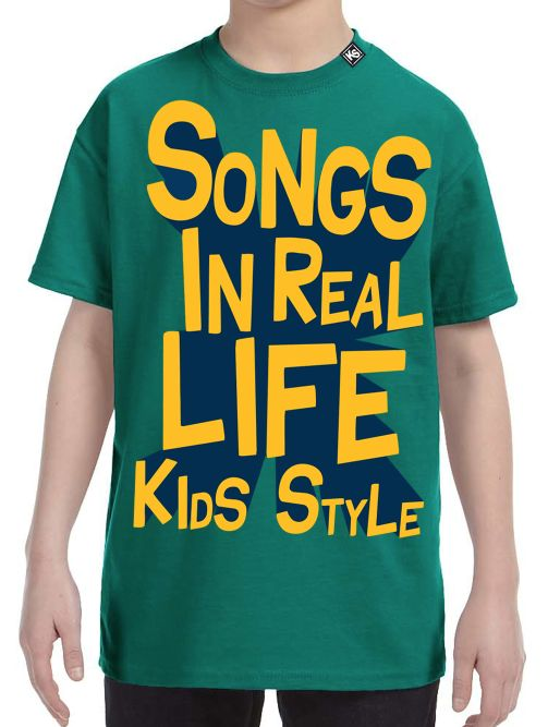Songs In Real Life Kids Style T-Shirt 3D Font For Kids