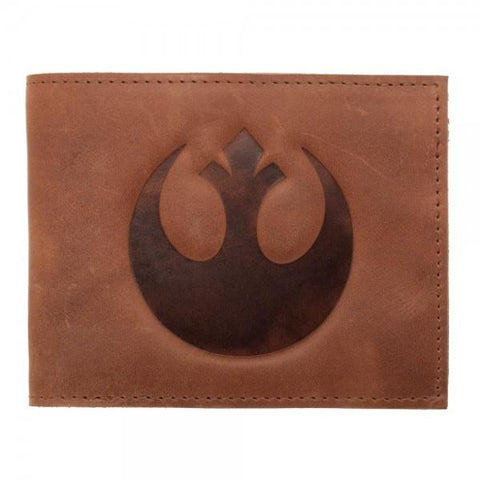 Star Wars Rebel Leather Bi-Fold Wallet Shop now at the kid squad free shipping