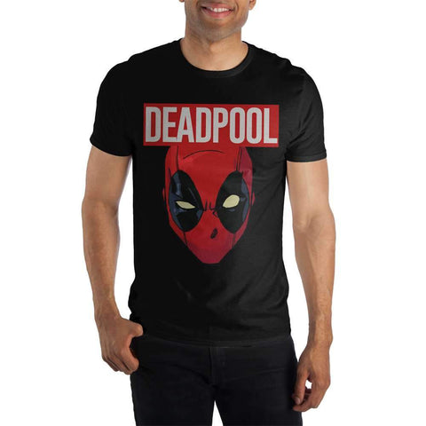 Marvel Comics Deadpool Movie Costume Face Black T-Shirt Shop now at the kid squad free shipping