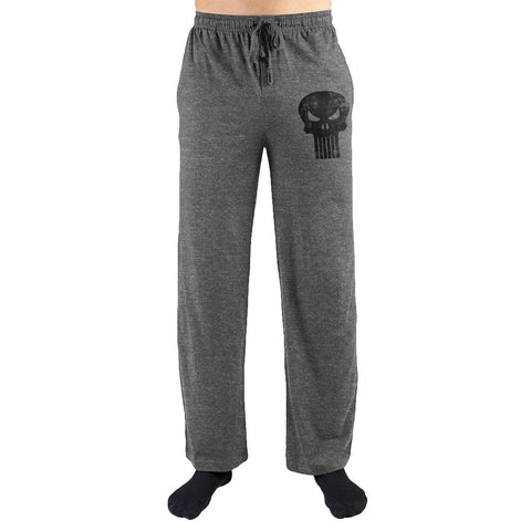 Marvel Comics The Punisher Black Skull Print Lounge Pants Shop now at the kid squad free shipping