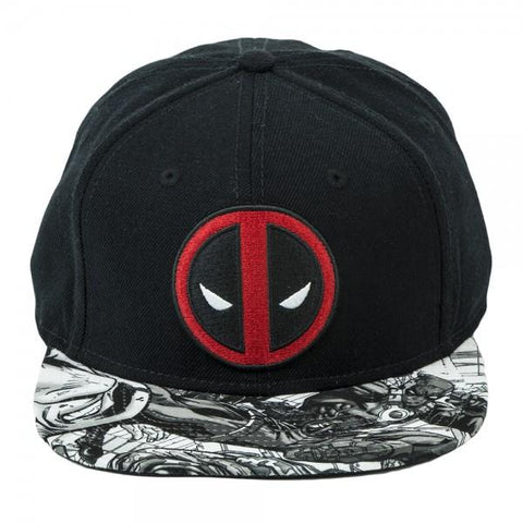 Marvel Deadpool Logo Sublimated Bill Snapback Shop now at the kid squad free shipping
