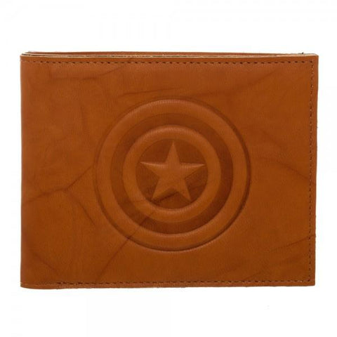 Marvel Captain America Leather Bi-Fold Wallet Shop now at The Kid Squad Free shipping