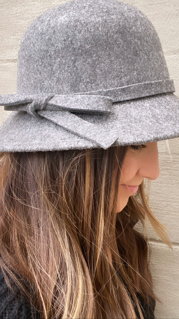 Heather Grey Bucket Hat