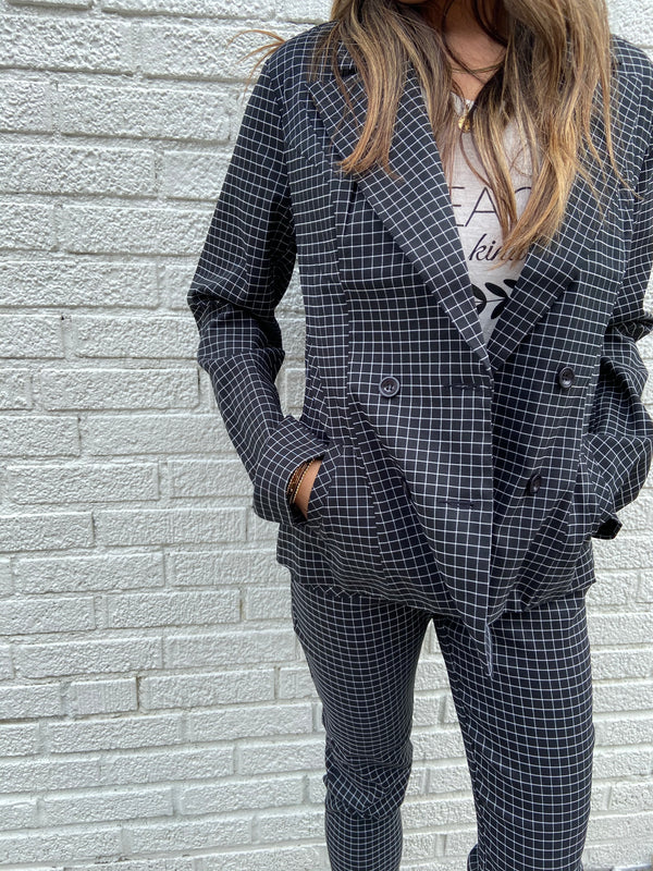 Checkered Pant Suit
