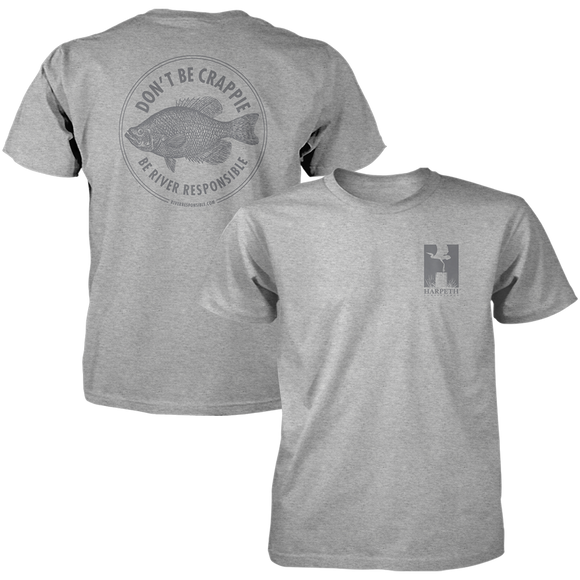 Don't Be Crappie Tee - Heather Grey
