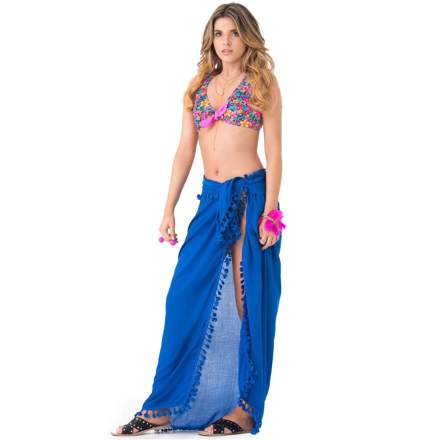 PHAX COLOMBIAN SWIMWEAR | POM POM COLOR MIX SARONG