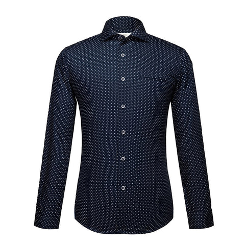 Polka Dot Print | Slim Fit | Long Sleeve Shirt