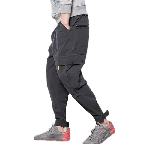 Casual Sweatpants | Button Cargo Pockets | Pants
