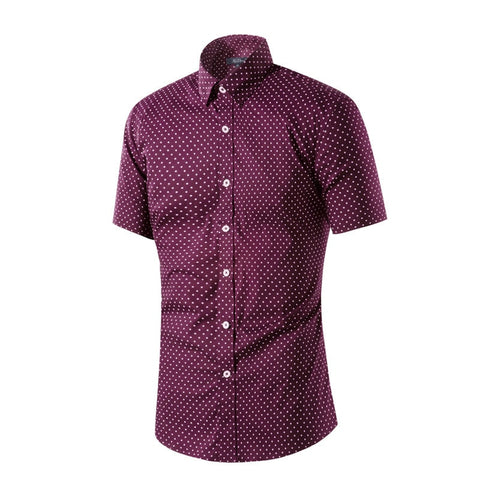 Dot Pattern | Slim Fit | Short Sleeve Shirt