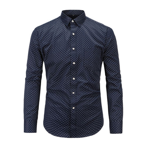 Dot Pattern | Slim Fit | Long Sleeve Shirt
