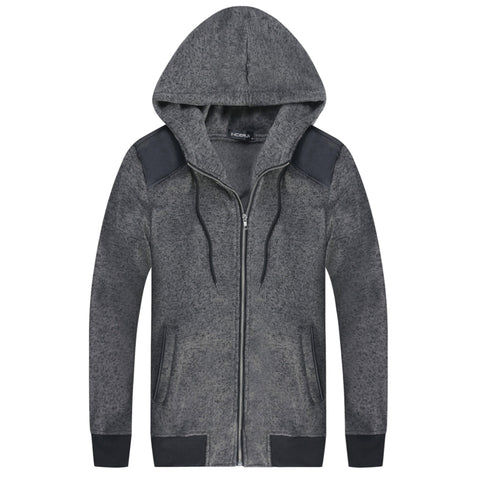 Slim Fit | Shoulder Patch | Zip Up Hoodie