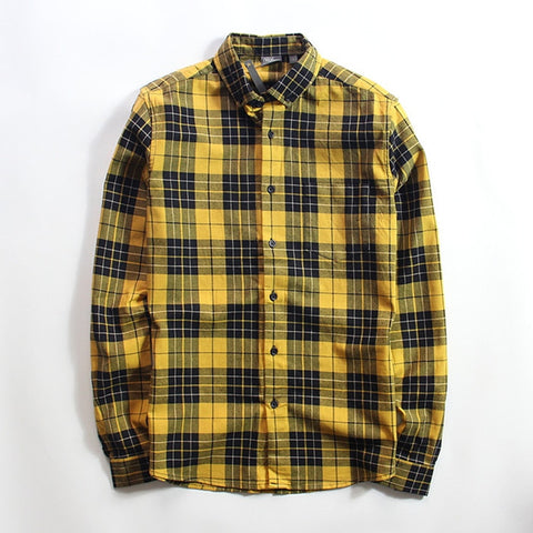 Yellow Plaid | Button Up | Shirt