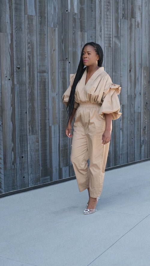Effortless Chic -- Khaki Jumpsuit