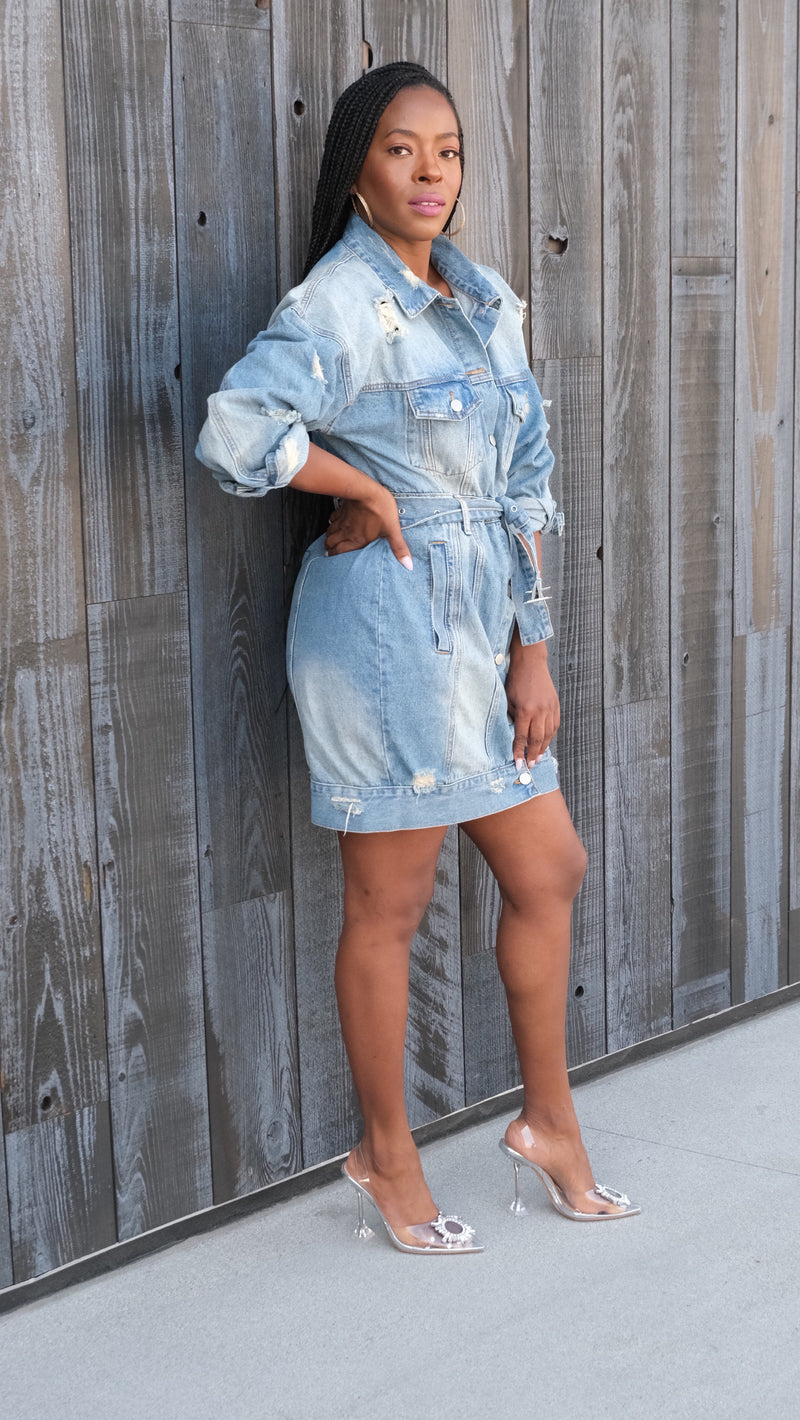 Distressed Doll -- Denim Dress