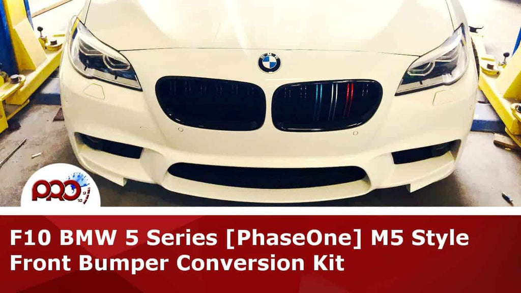 Customer project: F10 BMW M5 Style Front Bumper Conversion (Keeping Original Fenders)