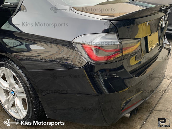 black f30 carbon fiber psm trunk spoiler