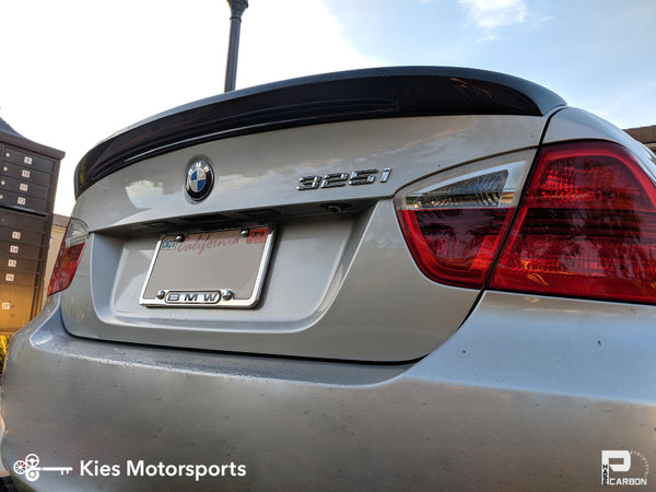 e90 bmw 3 series carbon fiber trunk spoiler lip type i