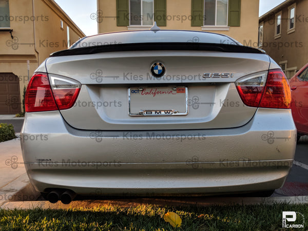 e90 m performance carbon fiber trunk spoiler lip