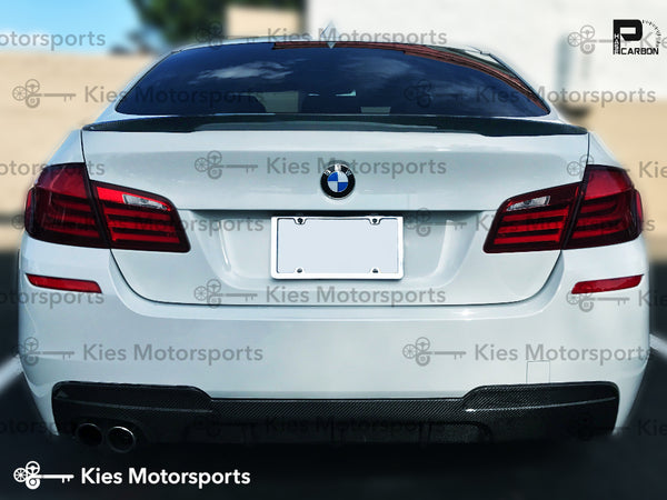white f10 m performance carbon fiber trunk spoiler lip