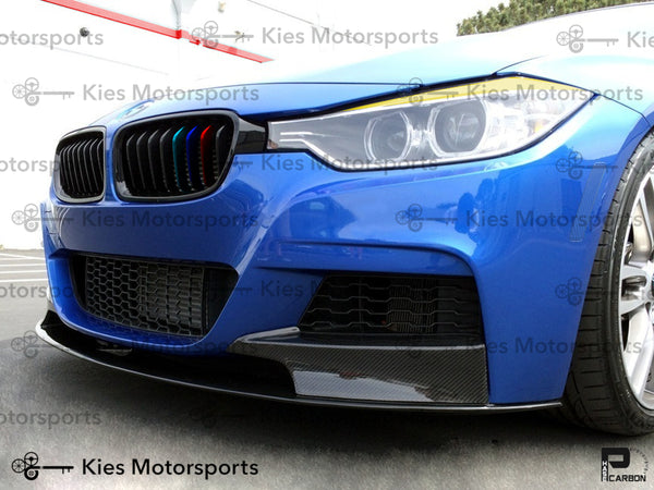 blue f30 carbon fiber m performance front lip