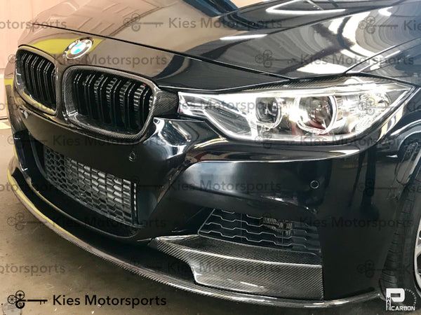 black f30 carbon fiber m performance front lip