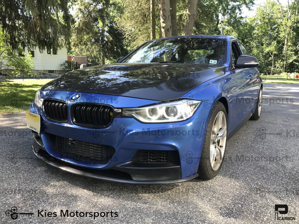 blue f30 335i carbon fiber m performance front lip