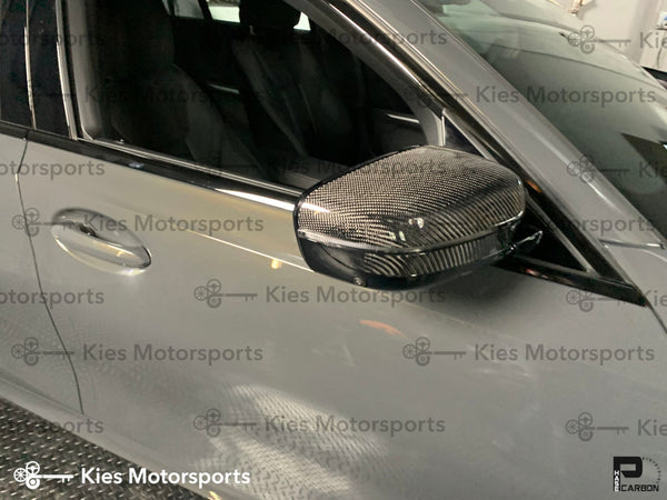 g20 bmw 3 series carbon fiber oem replacement mirror covers