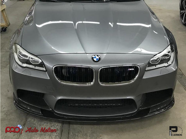 grey f10 m5 with 3d style carbon fiber front lip 02