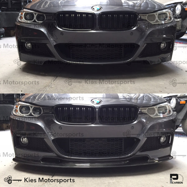 f30 phase carbon m perf front lip before and after